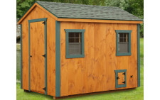 6'x10' A-Frame with Tongue and Groove Siding