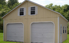 24x24 Vinyl Double Wide Two Story Gable Capitol Sheds