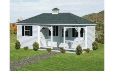 12'x20' Vinyl Pool House with Porch