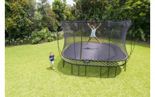 Springfree 13'x13' Jumbo Square Smart Trampoline with Safety Enclosure
