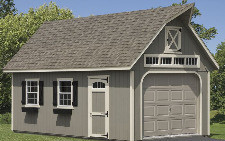12x20 Two Story Gable Two Capitol Sheds