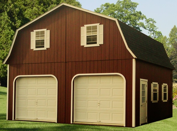 24x24 double wide two story barn capitol sheds for Two story double wide