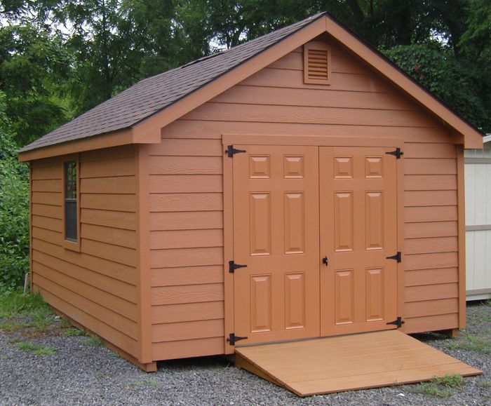 12x16 gable style shed with lap siding capitol sheds for Gable style shed