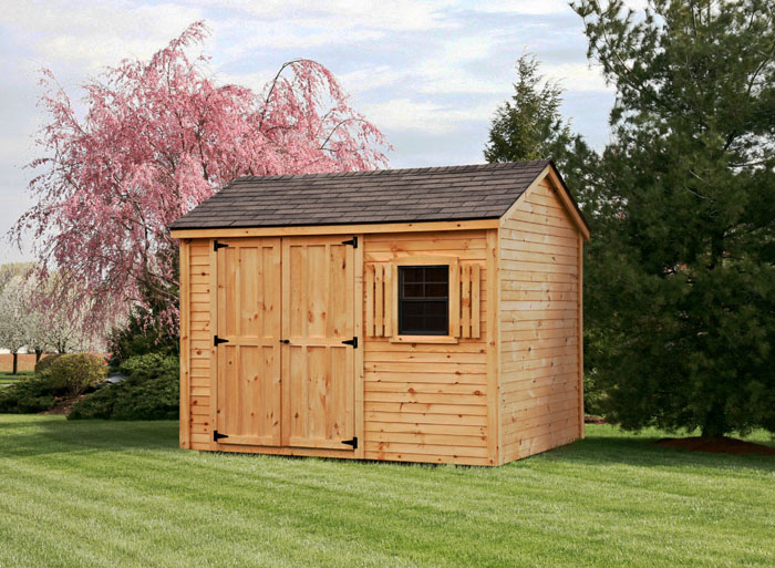 8x10 pine clapboard gable style shed capitol sheds for Gable style shed
