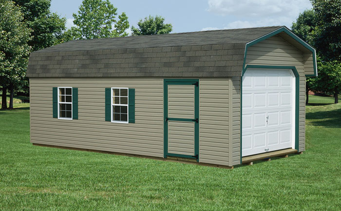 12x24 Barn Style Garage Capitol Sheds
