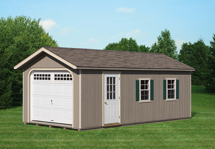 12 x 24 gable style garage capitol sheds. Black Bedroom Furniture Sets. Home Design Ideas