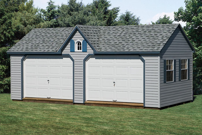 12 X 24 Gable Style Garage Three Capitol Sheds