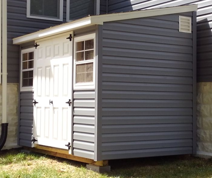 6x10 Vinyl Leanto Storage Shed Capitol Sheds