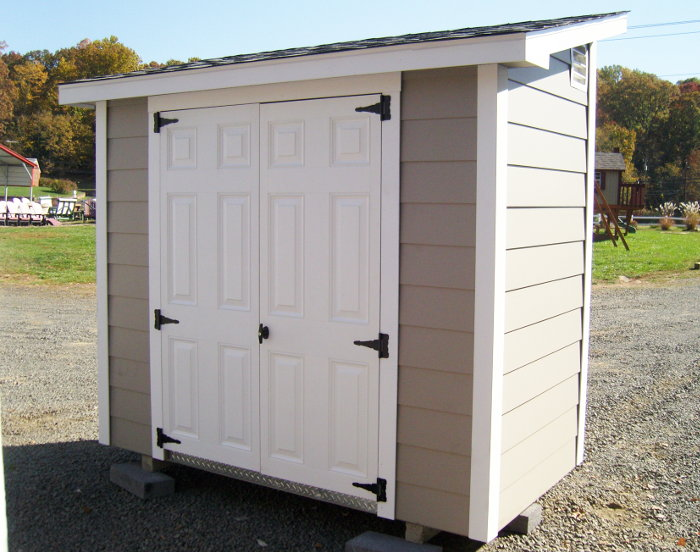 4x10 Lean-to Shed with Lap Siding - Capitol Sheds