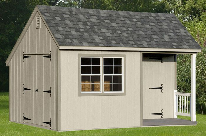 10x14 Saltbox With Porch Capitol Sheds