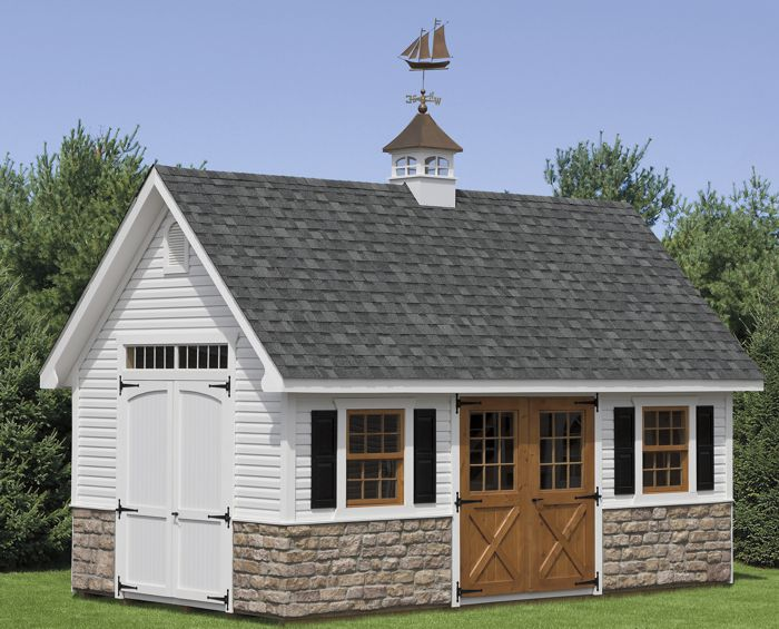 12x20 Vinyl Two Story Gable Capitol Sheds
