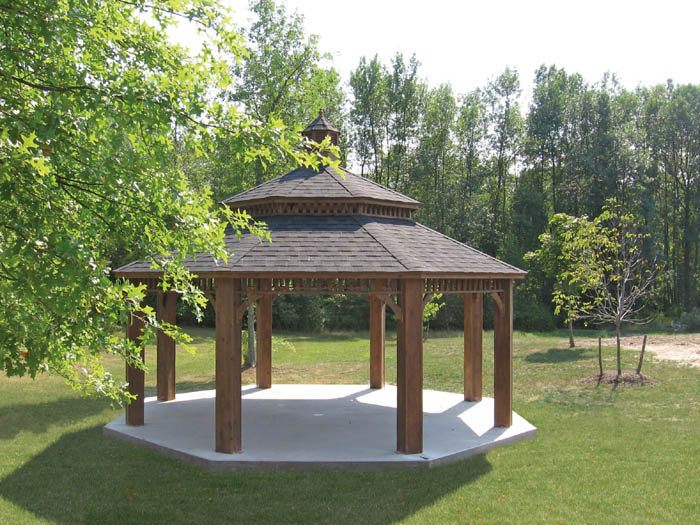 20 Foot Octagon Wood Gazebo Capitol Sheds