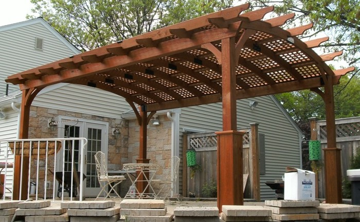 12x17 hearthside wood pergola capitol sheds for Garajes coloniales
